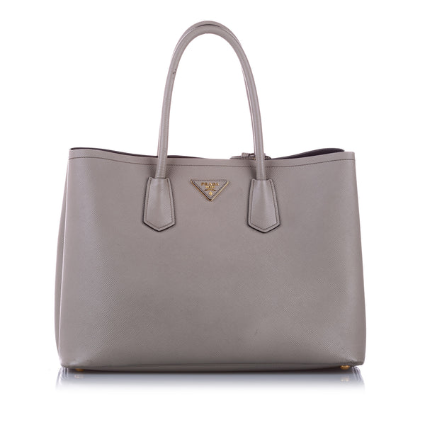 Gray Prada Saffiano Cuir Twin Handbag Bag