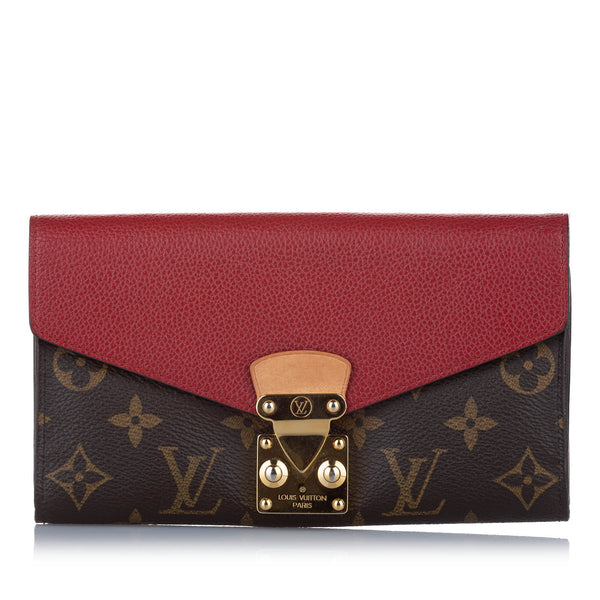 Brown Louis Vuitton Monogram Pallas Wallet