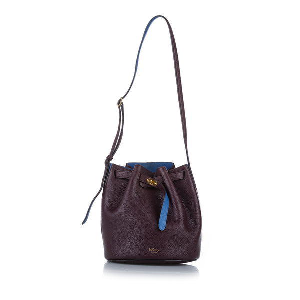Brown Mulberry Abbey Leather Bucket Bag