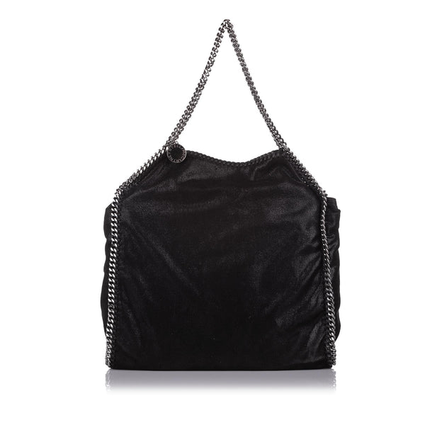 Black Stella McCartney Falabella Fold-Over Tote Bag
