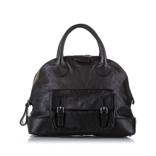 Black Chloe Edith Dome Bowler Bag