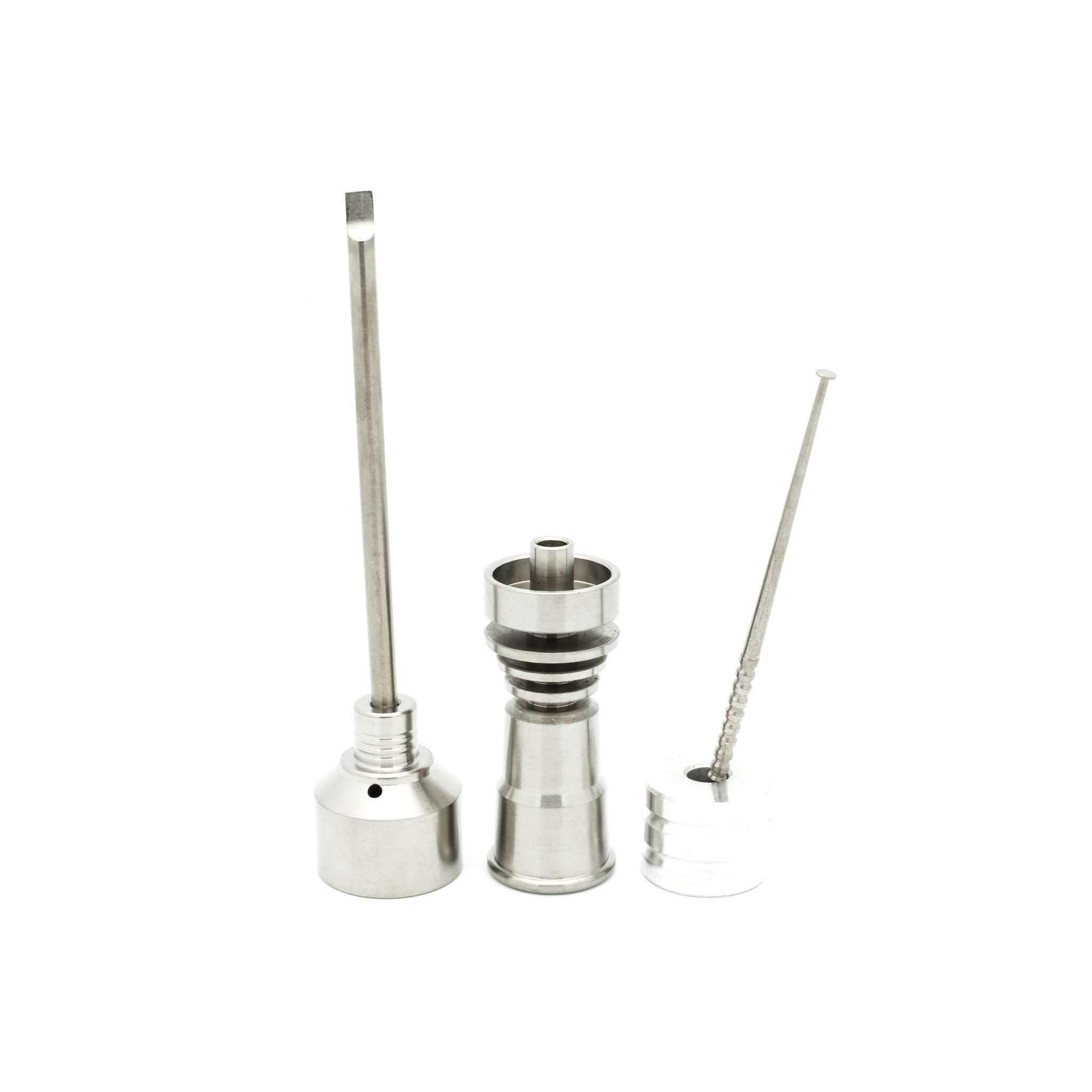 Queen 14mm & 18mm Domeless Titanium Nail Female Joint (Complete Kit)