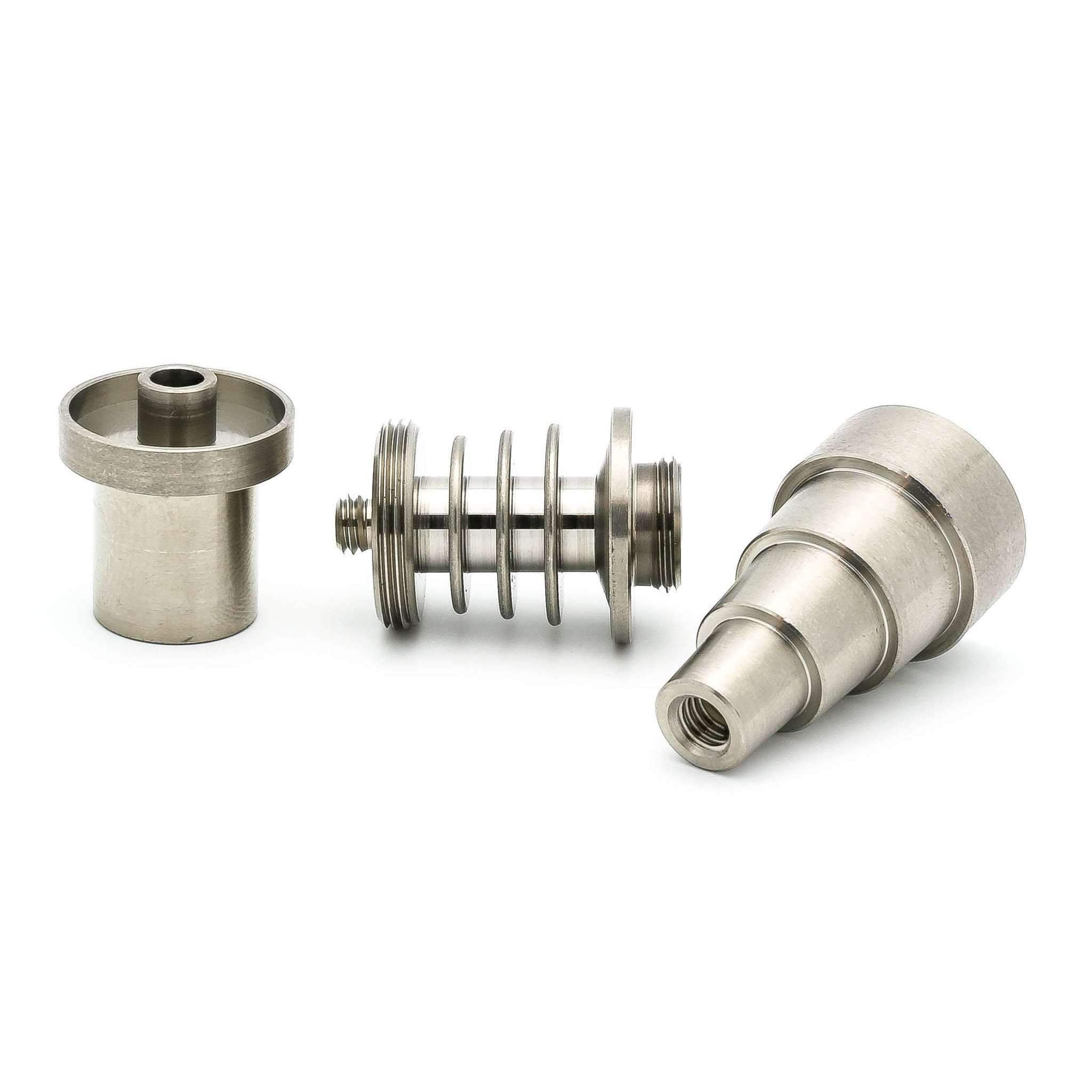 StickyNail (6 in 1 Universal) 10mm / 14mm / 18mm Domeless Ti Nail Male & Female Joint