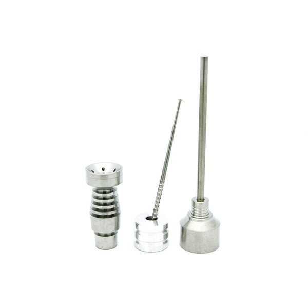 Wide Mouth 14mm & 18mm Domeless Titanium Nail Male Joint (Complete Kit)