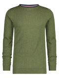 A Fish Named Fred classic pullover green 21.01.521: groene pullover met ronde hals