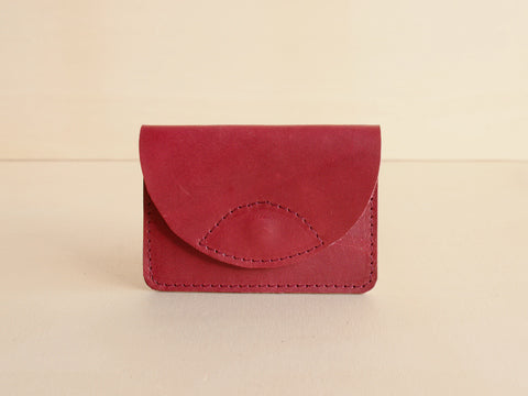 Anna Treurniet Bertie Eco Leather Small Wallet Bordeaux