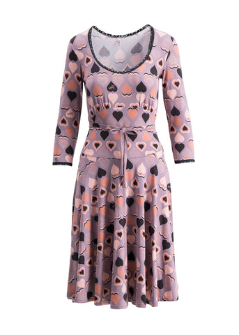 Blutsgeschwister Ode To Odette Dress Love And Peace Brown 001183225-002