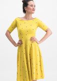 Blutsgeschwister Roswitas Dolcevita Dress Yellow Fly Over Alpine 001191221-002