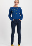 Blutsgeschwister Sea Promenade Pullover Bubbles Of Royal Blue 001193436-001