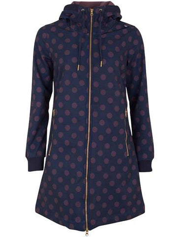 Danefae Jane Softshell Dark Night Grey Plum Dots 10360 2887