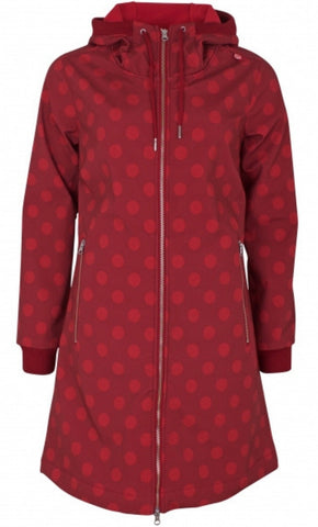 Danefae Jane Softshell Dark Red Red Dot 10360-3098