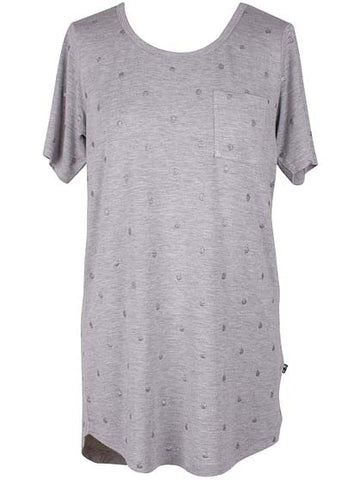 Danefae Marga Tee Lt Heather Grey With Silver 11429-2676
