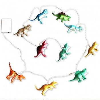 House of Disaster string lights with bright dinosaurs: leuke lichtjes slinger met dino's