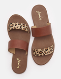 Joules FENTHORPE TWO STRAP LEATHER SANDALS 201317