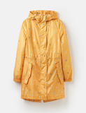 Joules Golighty Printed Waterproof Packaway Coat Antique Gold Raindrops Z_GOLIGHTLY AGRNDRP