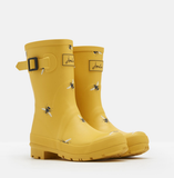 Joules Molly Mid Height Print Welly Yellow Bees 201038 GLDBOTB