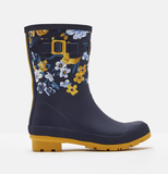 Joules Molly Mid High Printed Wellies Navy Botanical