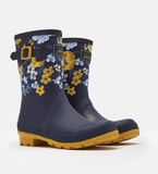 Joules Molly Mid High Printed Wellies Navy Botanical 201043-NAVBOTAN