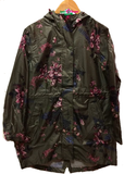 Joules Printed Waterproof Packaway Coat Brown
