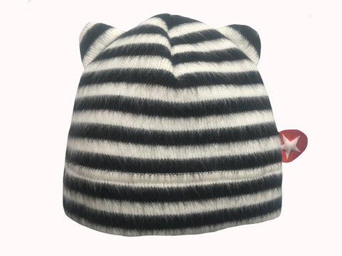 Kik Kid Hat Cat Fleece White Black W17 HHT 114s-000