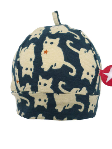 Kik Kid Hat Kelkje Cat Print Dark Blue W17 HKE 12i-350