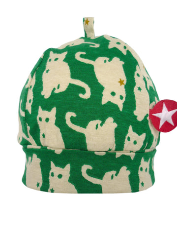 Kik Kid Hat Kelkje Cat Print Dark Green W17 HKE 12i-450