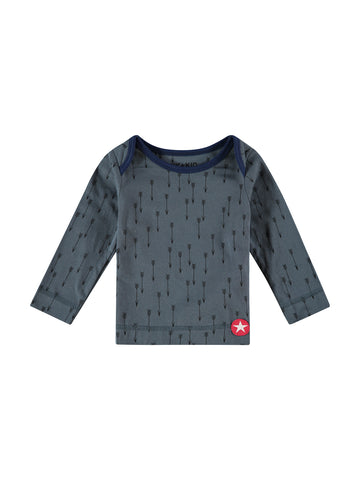 Kik Kid Organic Cotton TShirt Arrow Print Dark Grey/Dark Blue W17 BTS 48i-100