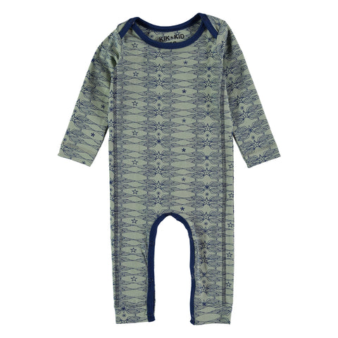 Kik Kid Romper Long Star Wings Jersey Green Dark Blue S18 BRO 71i/400/350