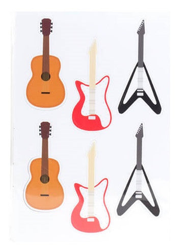Kikkerland Vinyl Magnets Guitars MG69