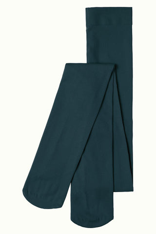 King Louie Tights solid pine green 00679200: comfortabele panty van 120 denier