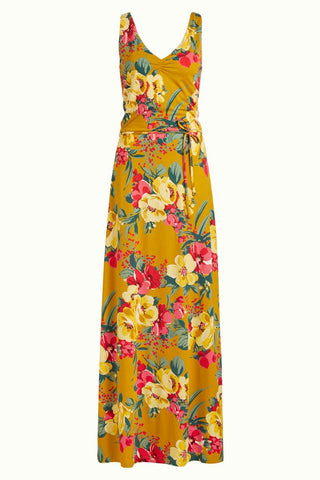 King Louie Anna Dress Maxi Lavish Spice Yellow 04972879