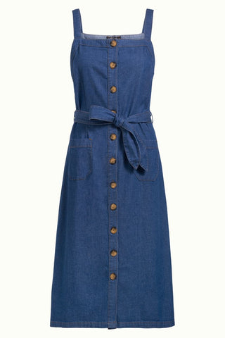 King Louie Beth Pinafore Dress Chambray Summer Blue 04689472