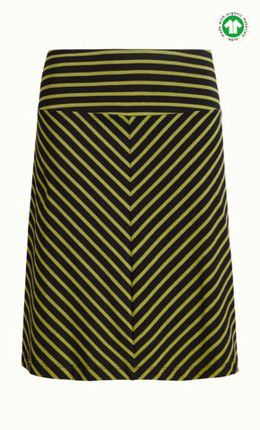 King Louie Border Skirt Long Marquee Stripe Black 03280001