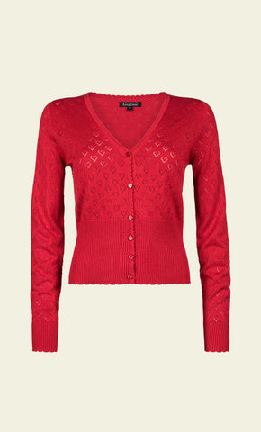 King Louie Cardi V Heart Ajour Red 00149645