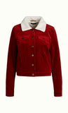 King Louie Janey Jacket Corduroy Sienna Red 03426641