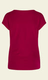 King Louie Lauren Top Viscose Lycra Lipstick Pink 02861-705