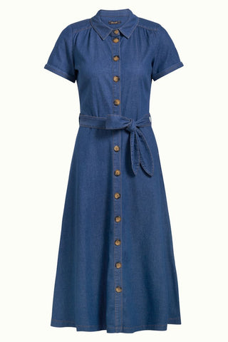 King Louie Olive Dress Chambray River Blue 03797459