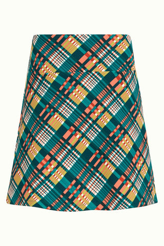 King Louie Olivia Skirt Oxford Dragonfly Green 03867300