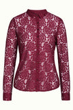 King Louie Rosie Blouse Damask Cherise Red 04378603