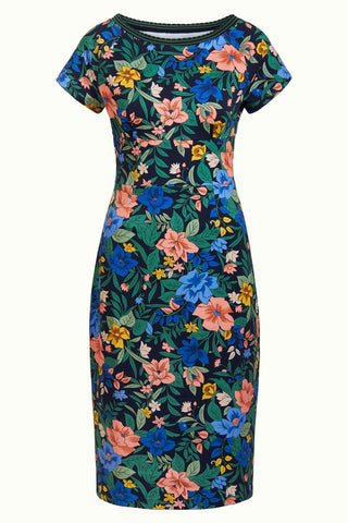 King Louie Tallulah Dress Belize Night Sky Blue 04844434