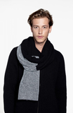 Loop A Life You And Me Scarf Black Light Grey U1091140