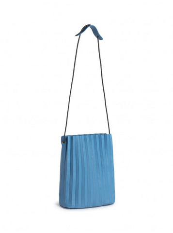 Nice Things Pleated Cross Body Bag Soft Blue WBK007_119 blauwe schoudertas met uitneembare binnentas