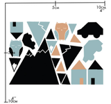 Nuukk Porcelain Sticker Little Town.