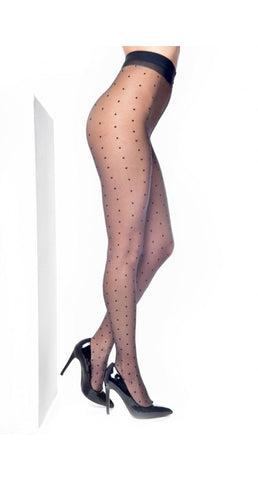 Pamela Mann Luxery Sheer Dotty Tights Black