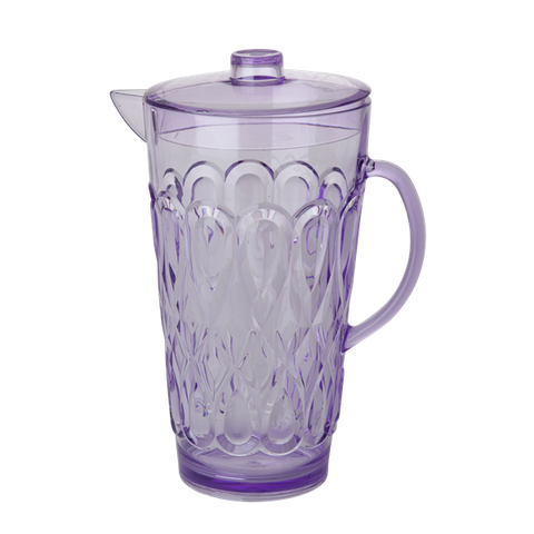 Rice Acrylic Jug With Swirly Embossed Detail Lavender Large HSJUG-SWLA