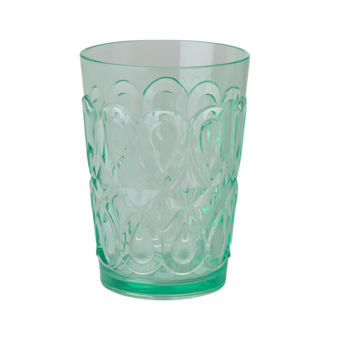 Rice Acrylic Tumbler With Swirly Embossed Detail Pastel Green HSGLC-SWPG