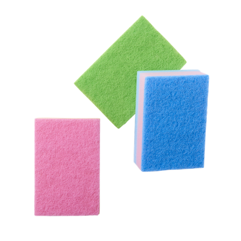Rice Big Kitchen Sponge in Assorted Colors - Set of 3 SPONGE-LXC