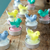 Rice Bird Shaped Tea Candle Blue CDTEA-4BIRB
