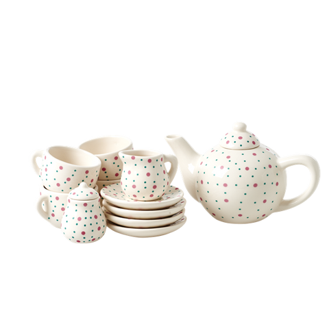 Rice Doll Porcelain Tea Set With Dot Print KITEA-DOT