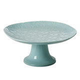 Rice Embossed Stoneware Cake Stand in Mint CECAK-EMMI
